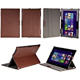 Prosys High Quality leather Case for Asus Transformer Book T100 (T100TA 25.65 cm 10.1) - Brown