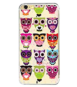 Colourful Owls Pattern 2D Hard Polycarbonate Designer Back Case Cover for Apple iPhone 6 Plus :: Apple iPhone 6+
