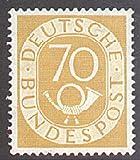 Goldhahn BRD Nr. 136 postfrisch **geprüft 70 Pfennig Posthorn Briefmarken für Sammler
