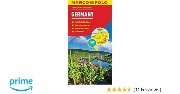 Tomtom Australia Map 945.Germany Marco Polo Map Marco Polo Maps Amazon Co Uk Marco Polo