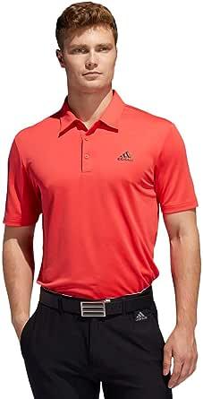 adidas Golf Mens 2020 3-Stripe Basic Mid-Weight Soft Stretch 3-Button Polo Shirt