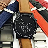 GENT men's Watch Porthos I chronograph Black Matte steel 42 mm case Black dial 22 mm lug Japanese Citizen Quartz movement 2 Years Warranty