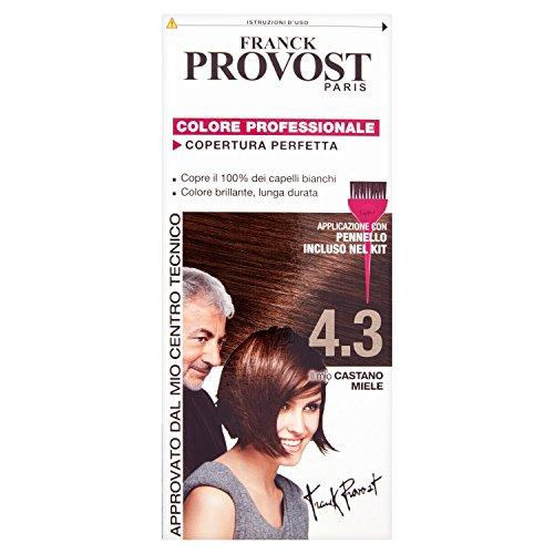 Franck Provost Colore Professionale Copertura Perfetta, 4.3 Castano Miele - [pacco da 3]