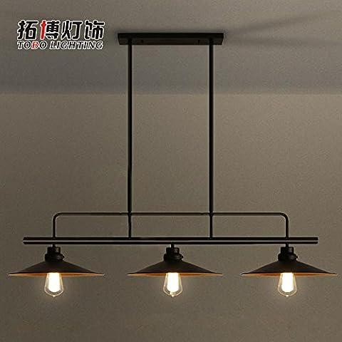 FULL Semplice Creativo lampada a sospensione per la decorazione, casa, bar, ristorante,club, etc in ferro battuto tre teste coperchio, senza luce
