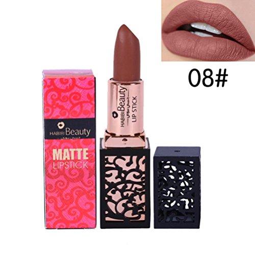 Lèvres Lip Gloss, Malloom® Femmes Mode Lipstick Cosmetics Sexy Matte Lasting 08#