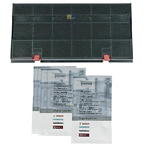 Sparset! Aktivkohlefilter DKF 24 WPro 481281718526 + 5x Edelstahl-Pflegetuch