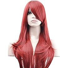 """Ambielly 28""""/ 70 cm Peluca De las mujeres Cabello Cosplay Disfraz Peluca Pedazo de cabello Peluca (rojo)"""
