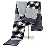 Tininna Eleganter Männer Winter-Schal aus Seide und Kaschmir grau