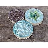 Set Keramik Tischdeko Dekosteine Blau Türkis Grau