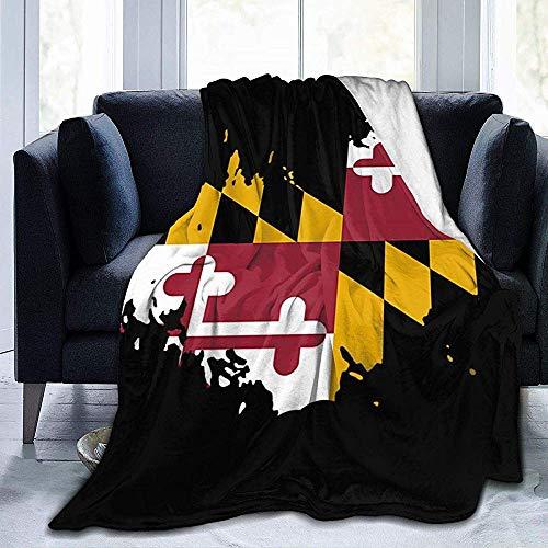 Ultraweiche Fleecedecke Maryland Flag Throw Blanket Warme Decke Weiche Fleecedecke Für Couch Fleece 60X50Zoll -