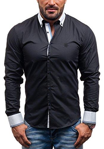 BOLF - Chemise casual - à manches longues – MAX WAY 5766 - Homme Noir