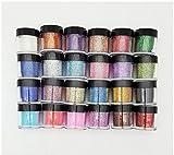 XICHEN® 24 x Fine Acrylic Glitter Powder for Nail Art Tips Design , Decoration Glitter Dust Powder Jumbo Size