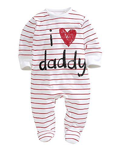 Babys Langarm Bodysuit Strampler Baby Jungen Baumwolle Footed Pyjamas / Ddecke Schlaf Kleinkind M?dchen Overall (Gerber Baby-overalls)
