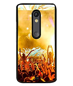 PrintVisa Designer Back Case Cover for Moto X Force (stage performance rocking party crowded)