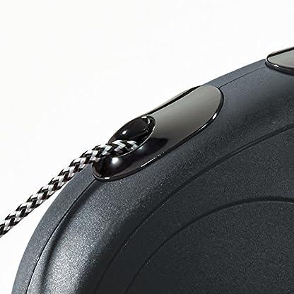 flexi New Classic Retractable Lead Cord, Black, Small, 12kg - 8m (26ft) 3