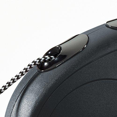 flexi Roll-Leine New Classic M Seil 5 m schwarz für Hunde bis max. 20 kg - 3