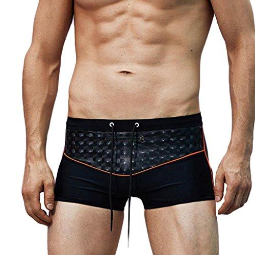 GreatestPAK T-Shirt Atmungsaktive Shorts Badehosen Plus Size Herren Bademode Strand Slim Wear Solide Hosen,Schwarz,XL