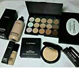 Girraj Store Mac Combo Of Foundation Concealer Contour Palette Compact And Lipstick
