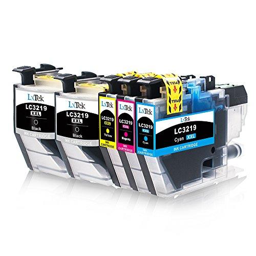 Galleria fotografica LxTek Compatibile Cartucce d'inchiostro Brother LC3219 XL (2 Nero, 1 Ciano, 1 Magenta, 1 Giallo) per Brother MFC-J5330DW MFC-J5335DW MFC-J5730DW MFC-J5930DW MFC-J6530DW MFC-J6930DW MFC-J6935DW