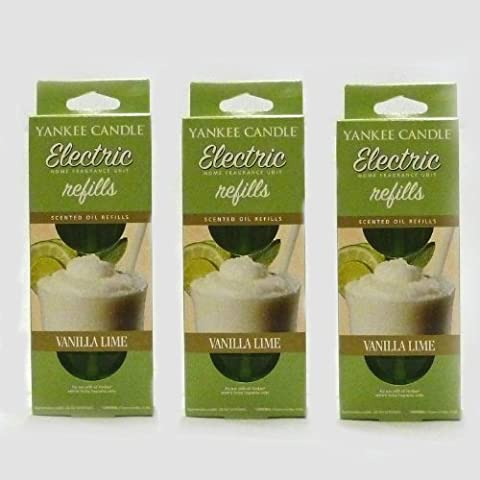 Yankee Candle - 3x Vanilla Lime Electric Plug-In Refill Twin