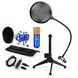 auna CM001BG V2 • Set Microfono A Condensazione Con Adattatore USB • Filtro  anti pop • 90d1454a954f