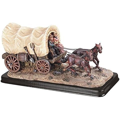 Carro W/Caballo estatuilla Estatua Escultura vaqueros Rodeo figura