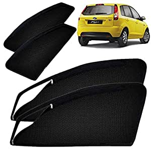 Autofact Magnetic Window Sunshades for Ford Figo Old - 2008 to 2014 (Black) - Set of 4