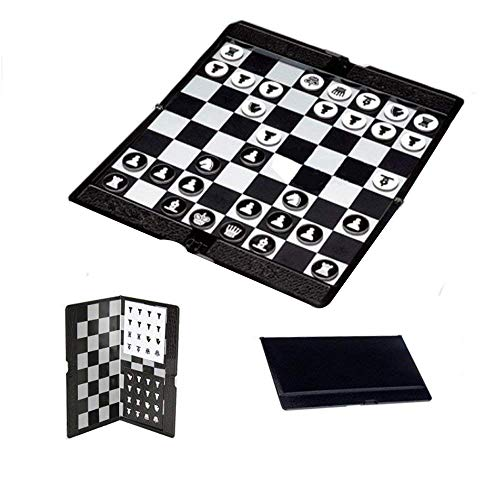 Amazon Black Sales Friday Cyber Sales Monday Sales & Deals Week 2018--Magnetic Travel Chess Wallet Pocket Size Folding Set Board Chess Game Gift For Travel Durable For Kids Teenagers Or Adults