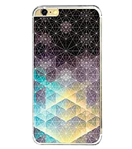 PrintVisa Geometrical Bling Pattern High Glossy Metal Designer Back Case Cover for Apple iPhone 6