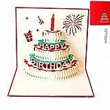 Geburtstags-Karte für Mutter, 3d-Popup-Grußkarte, Geschenk für Mutter zum Geburtstag, Muttertag Geschenke 01 rot