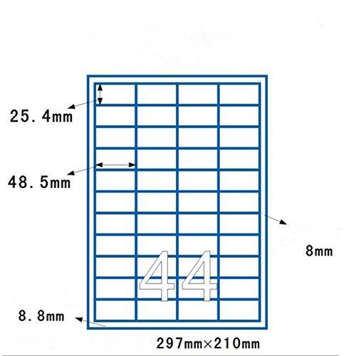 RoseFlower® 100 feuilles de Amazon FBA étiquettes, 44 étiquettes blanches adhésives par feuille (4400 étiquettes de 48.5 x 25.4 mm) - Convient pour Amazon FBA expédition
