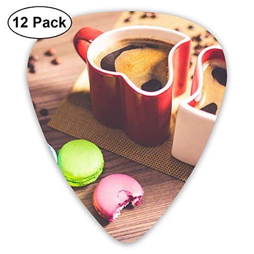 Classic Guitar Pick (12 Pack) Heart Coffee Cups and Cakes Player's Pack for Electric Guitar,Acoustic Guitar,Mandolin,Guitar Bass