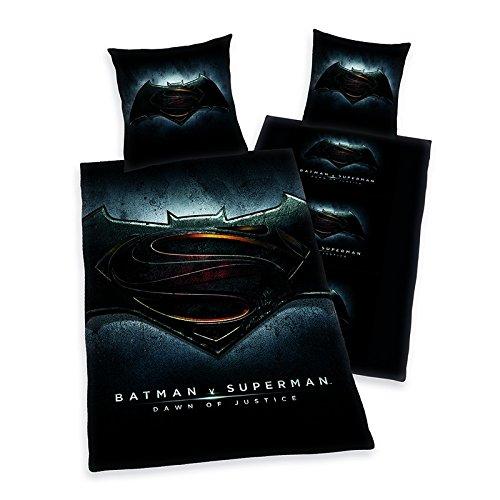 Batman vs Superman Bettwäsche, 2-teiig, 80 x 80 cm, 135 x 200 cm Polyester 100%