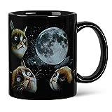 Grumpy Cat Moon wärmeempfindliche Farbwechsel Kaffee Tasse
