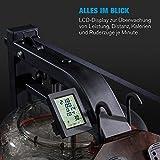 Capital Sports Stoksman 2.0 Rudergerät für zuhause Wasserruderbank aus Holz leise 120cm Doppelgleitschiene Trainingscomputer - 3