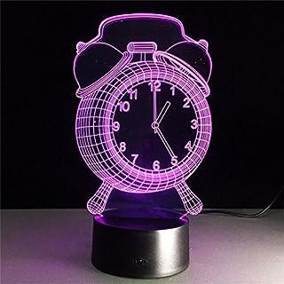 3D Wecker Uhr Geschenk Acryl Nachtlicht LED Zimmer Wohnzimmer Schlafzimmer Beleuchtung Möbel Dekoration Farbe 7 Farbe Haus Möbel Zubehör