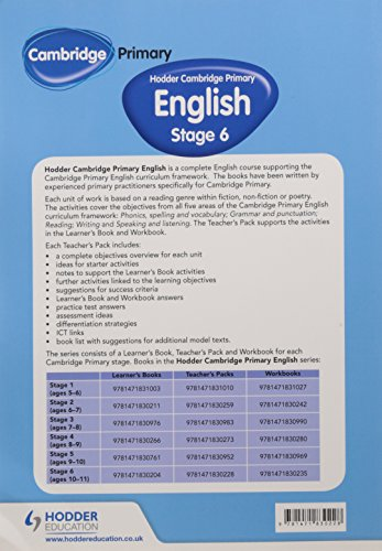Hodder Cambridge Primary English: Teacher's Pack Stage 6