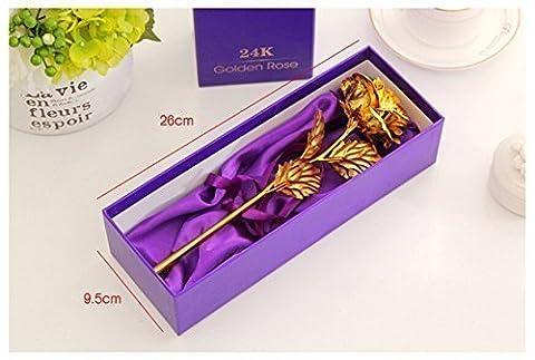 Webelkart Jaipurcrafts 24K Gold Rose With Gift Box And Carry Bag