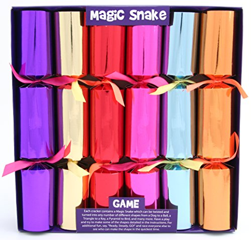 6 Magic Snake Christmas Crackers