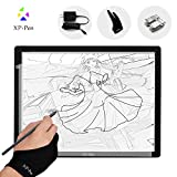 XP-Pen A3 Size LED Art craft Tracing Light table Light Pad Light Box for arts,drawing, sketching, UK Adaptor