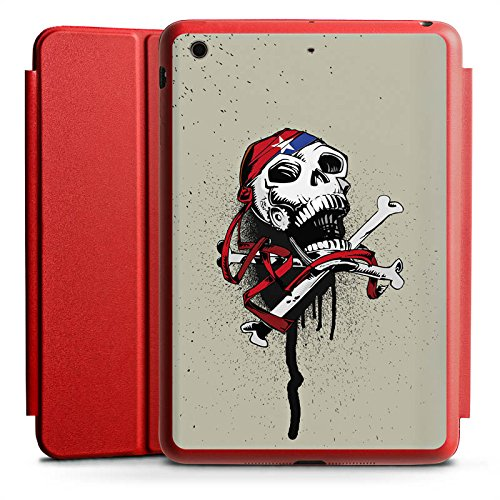 DeinDesign Apple iPad Mini 2 Smart Case rot Hülle mit Ständer Schutzhülle Pirat Death Tod (Case Apple 2 Ipad Smart Rot)
