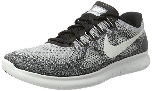 Nike Herren Free Run 2017 Laufschuhe, Grau (Wolf Grey/Off White/Pure Platinum/Black), 41 EU