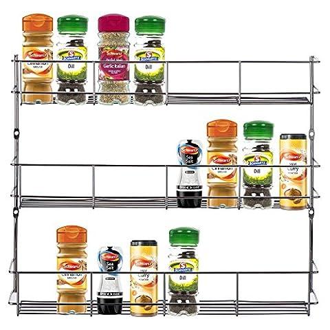 Kabalo Acier inoxydable 3 Tier Spice Herb rack pour la cuisine Armoires Porte