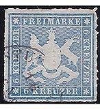 Goldhahn Württemberg Nr. 32 b gestempelt geprüft Briefmarken für Sammler