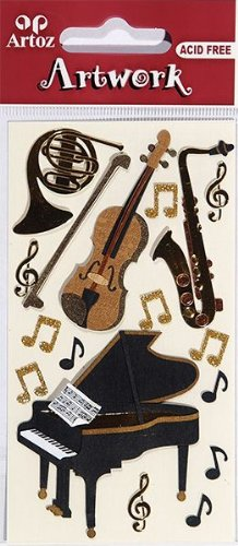 Artoz-Artwork-3D-Motiv-Sticker-Musikinstrumente-klassisch-handmade1