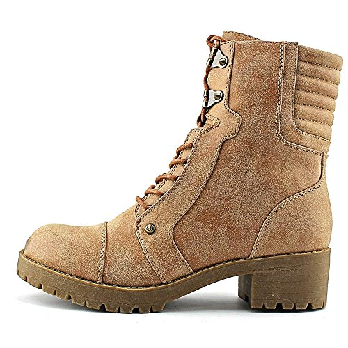 G di GUESS Meara Moto Bootie Dark Natural