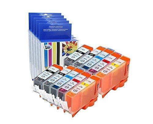 Preisvergleich Produktbild 10 Tintenpatronen kompatibel fuer PGI-525BK CLI-526K CLI-526C CLI-526M CLI-526Y Tintenpatrone für Canon pixma MG6150 MG8150 MG8250 MX895 mit Chip