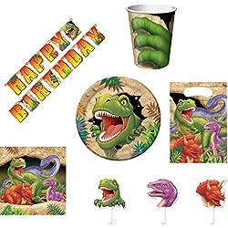 Gran Fiesta del paquete dinosaurios para los niños Cumpleaños 47piezas