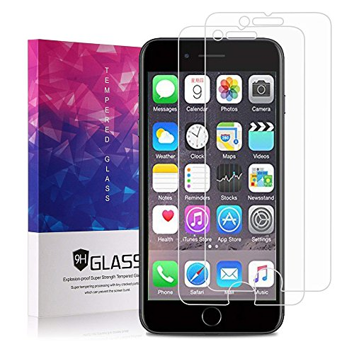 iPhone 8 Displayschutzfolie, iPhone 7 Displayschutzfolie, zaox Klar, Sekuritglas Displayschutzfolie 3D Touch Display Schutz Film für Apple iPhone 6/6S/iPhone 8/iPhone 7, 2 Pack Glass Screen Protector Privacy Screen Protector-pack