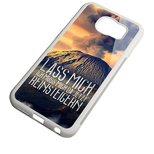 Smartcover Case Lass mich reinsteigern z.B. für Iphone 5 / 5S, Iphone 6 / 6S, Samsung S6 und S6 EDGE mit griffigem Gummirand und coolem Print, Smartphone Hülle:Samsung S6 EDGE weiss Samsung S6 EDGE weiss